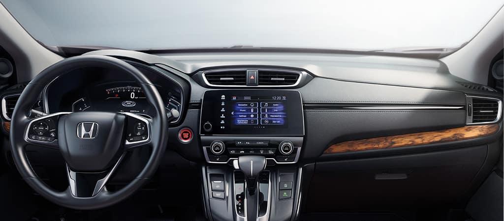 Interior cockpit of the 2020 Honda CR-V