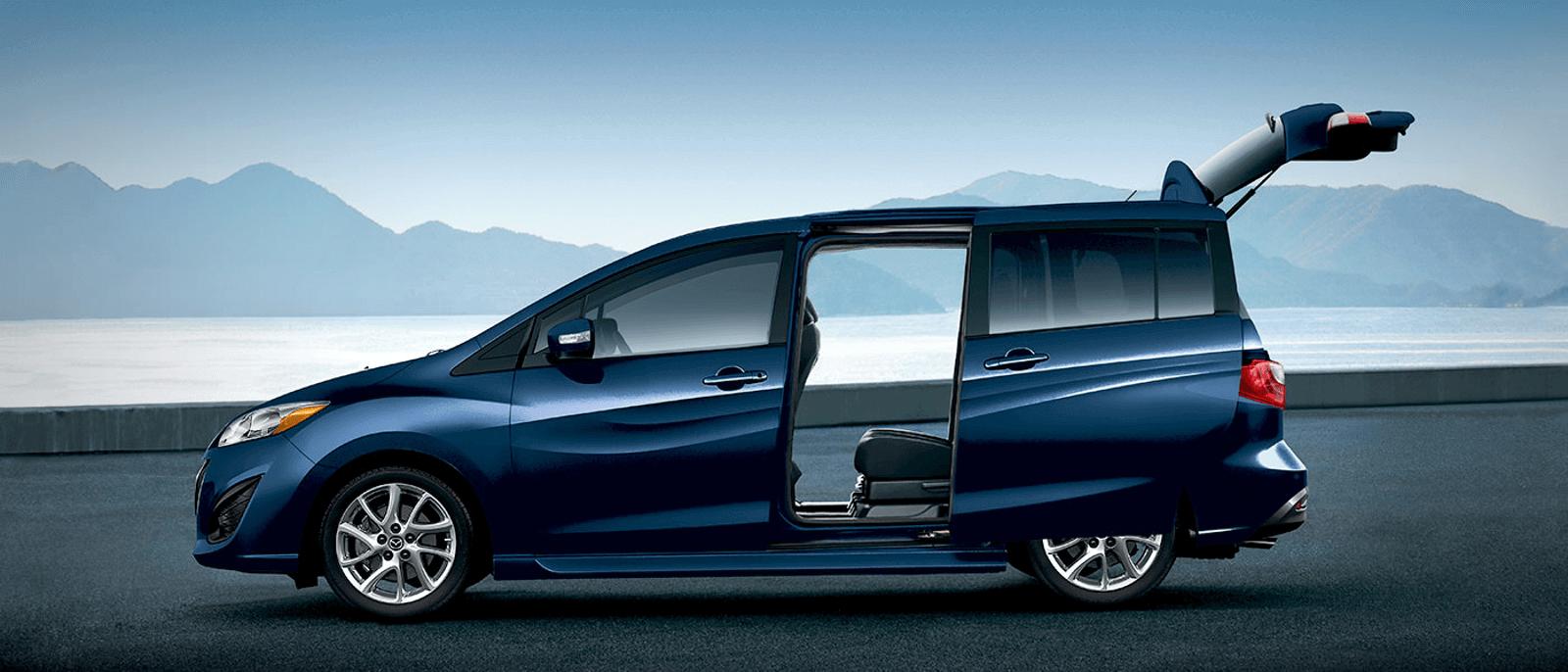 2015 Mazda5 trunk open