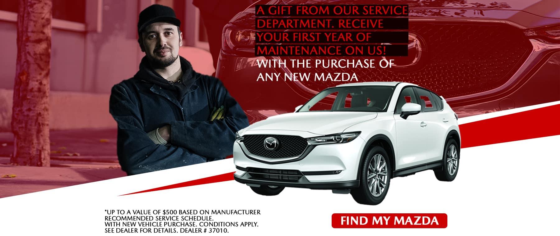 Free Maintenance for All Mazdas – Harris Mazda
