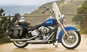 Side Blue Heritage Softail Classic