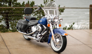 Blue Heritage Softail Classic