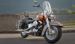 Heritage Softail Front Side View