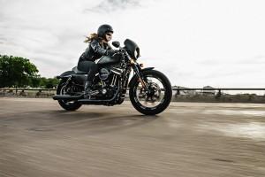 Woman rides a 2016 Iron 833