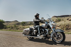 male rider on 2016 Road King