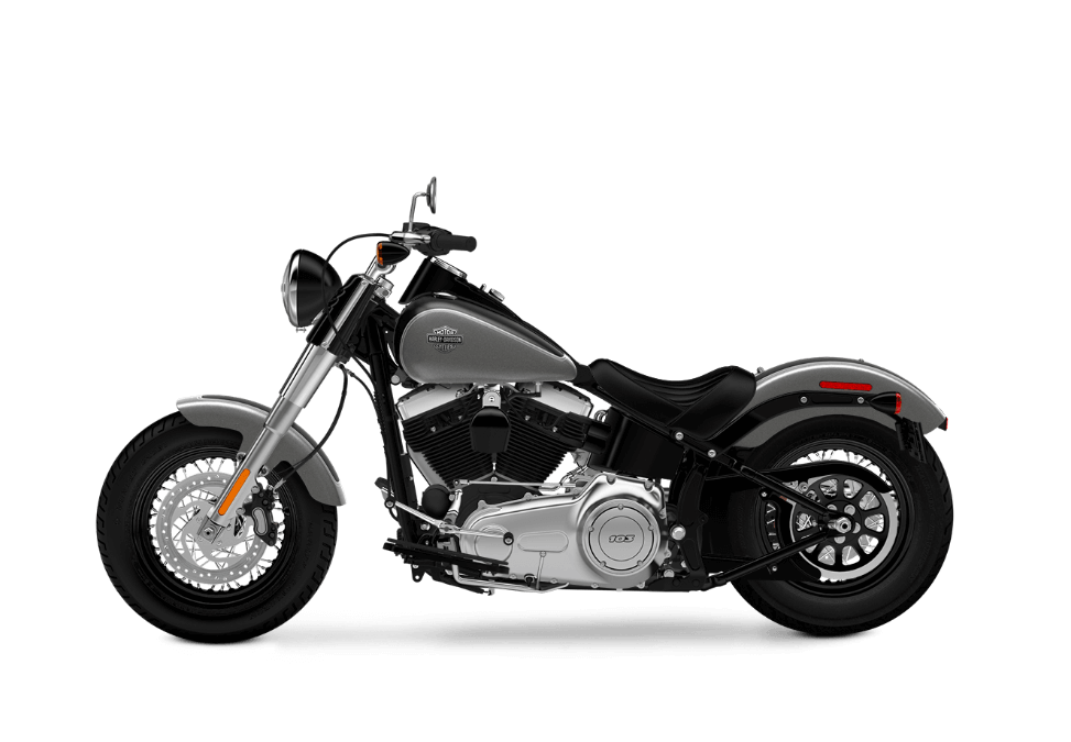 Softail Slim charcoal satin vivid black satin