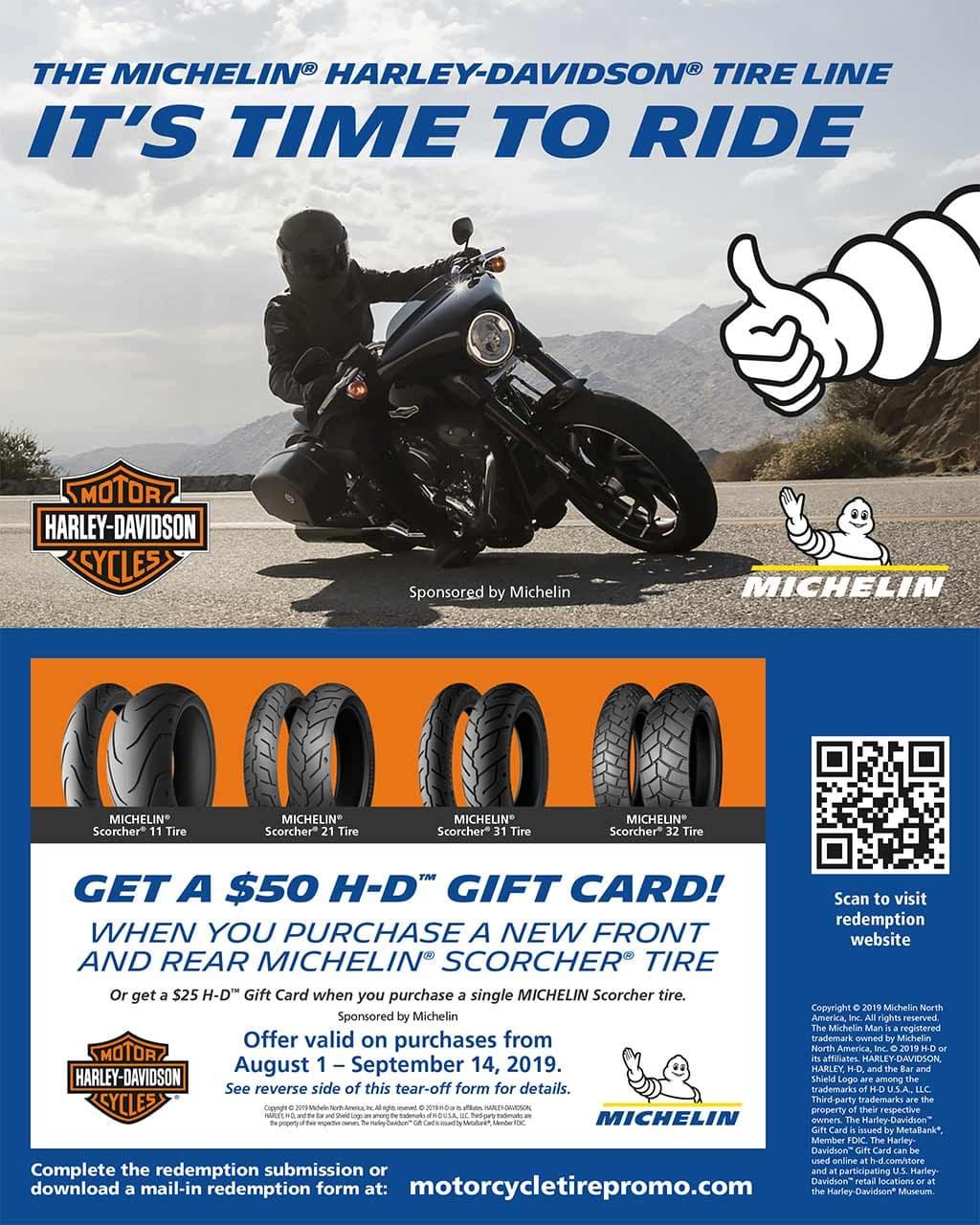 Michelin Tire Promotion High Octane Harley Davidson