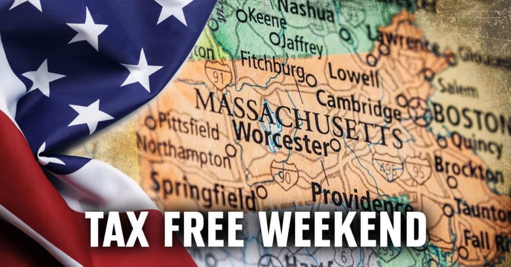Massachusetts tax-free weekend 2019