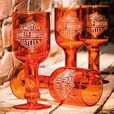 Harley Orange Wine Glasses 3BCG4900