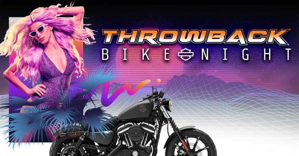 Throwback Bike Night & Harley Giveaway