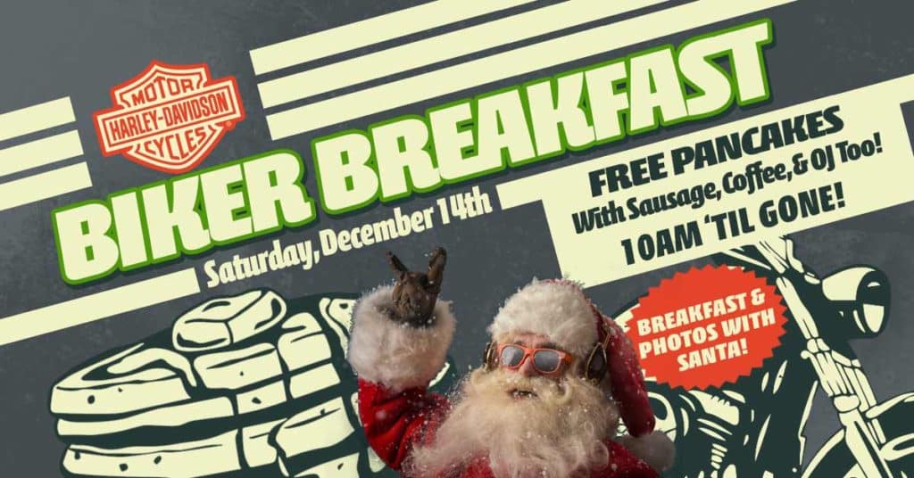 Biker Breakfast With Santa
