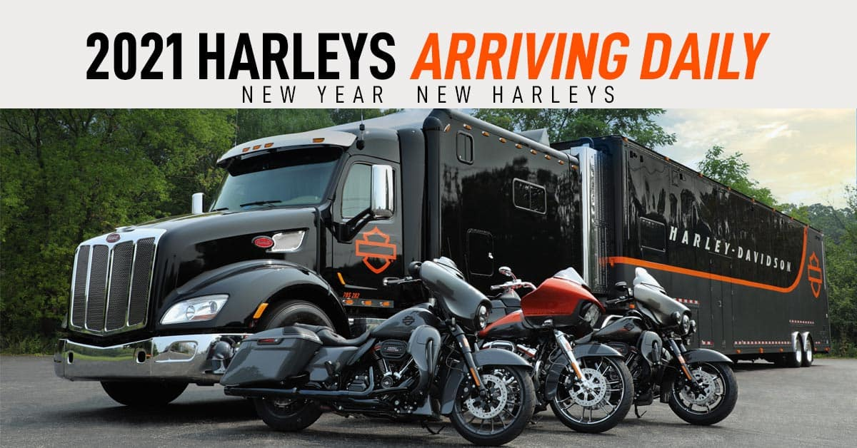 New 2021 Harley-Davidson motorcycle models