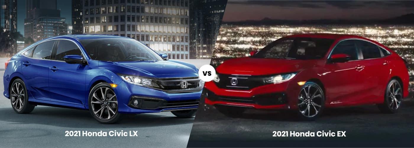 Honda Civic LX vs EX