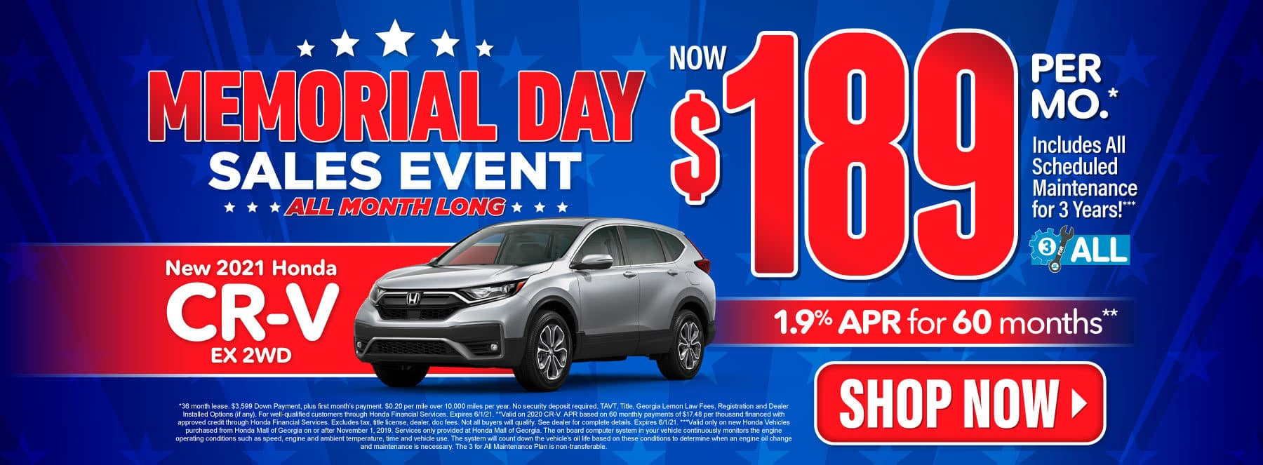 New 2021 Honda CR-V | Now $189 per month | Act Now