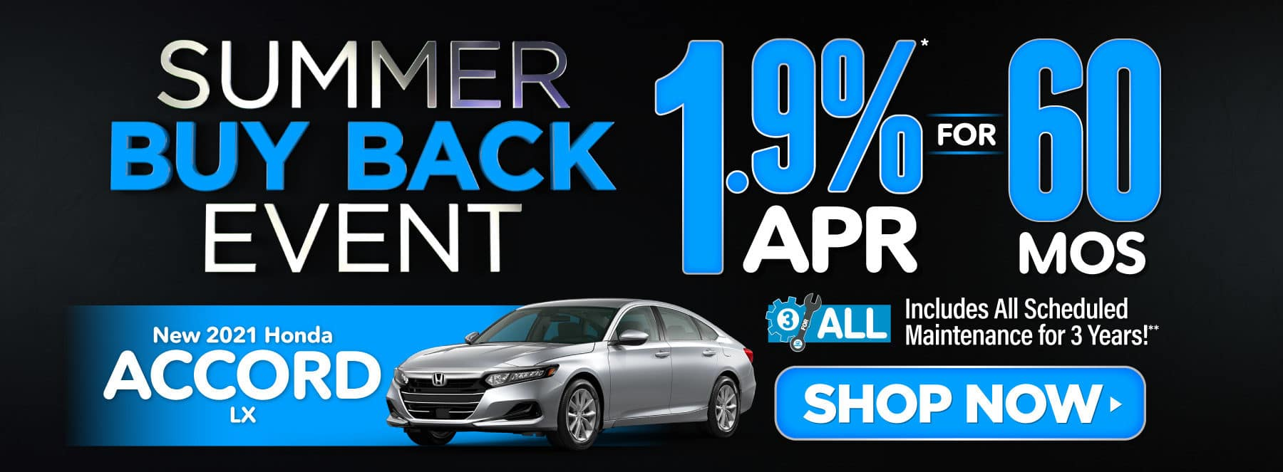 New 2021 Honda Accord - 1.9% APR for 60 months - Shop Now