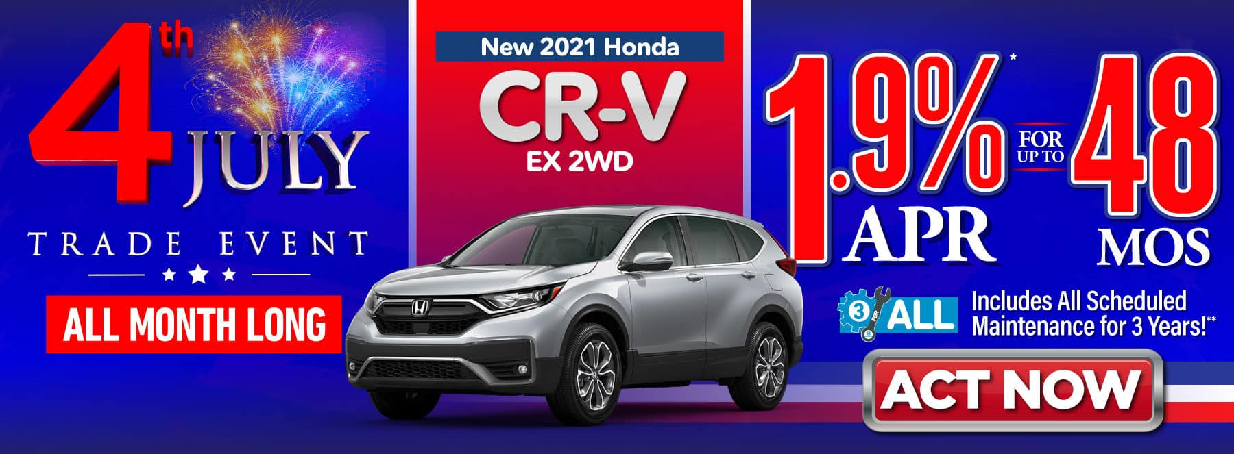 New 2021 Honda CR-V EX - 1.9% APR for up to 48 Months - ACT NOW