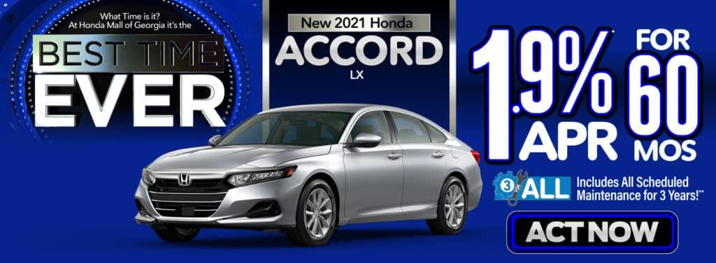 New 2021 Honda Accord LX - 1.9% APR