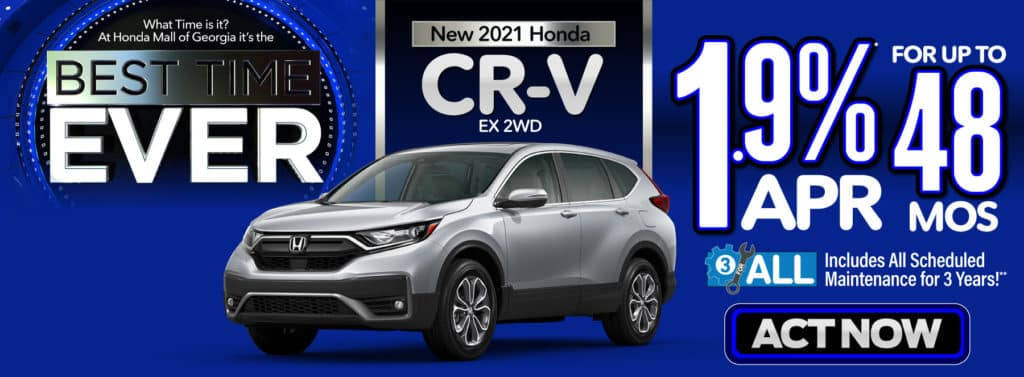 New Honda 2021 CR-V EX 2WD - 1.9% APR