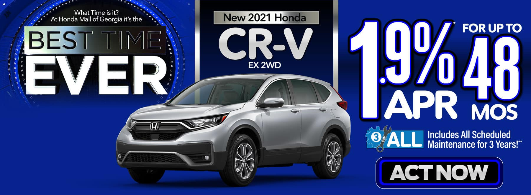New 2021 Honda CR-V - 1.9% APR for up to 48 months - Act Now