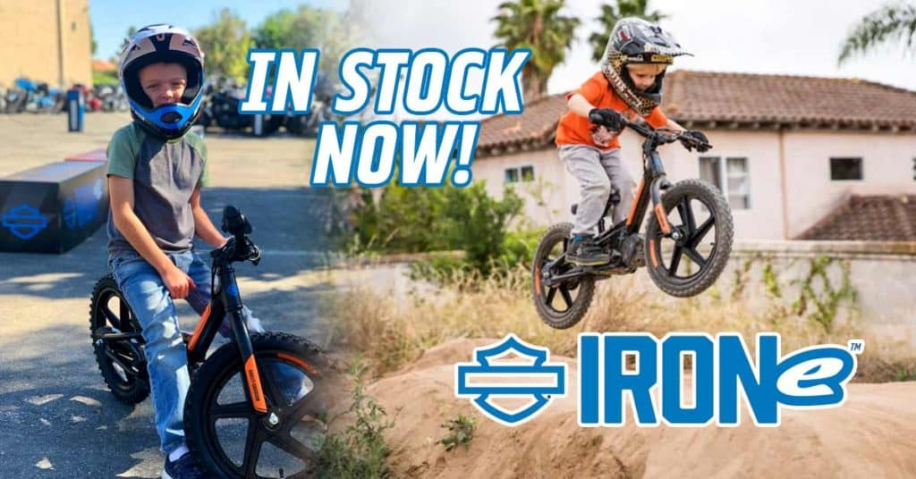 Harley IRONe Kids Electric Bikes In Stock