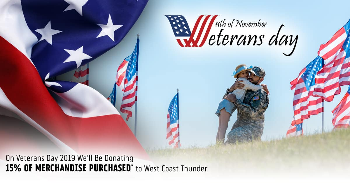 Huntington Beach Harley Veterans Day 2019 Fundraiser for West Coast Thunder