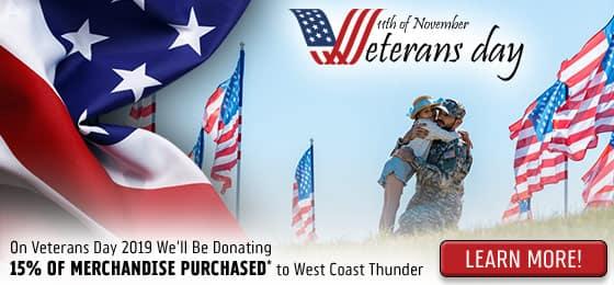 Donate 15% Veterans Day