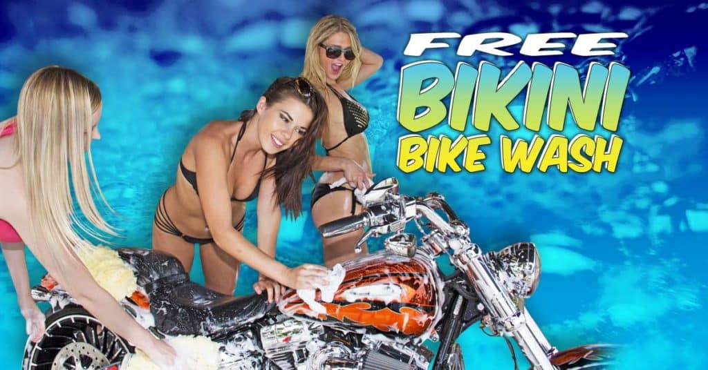 Free Bikini Bike Wash