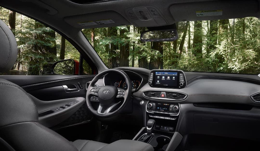 2019 Hyundai Santa Fe interior cabin