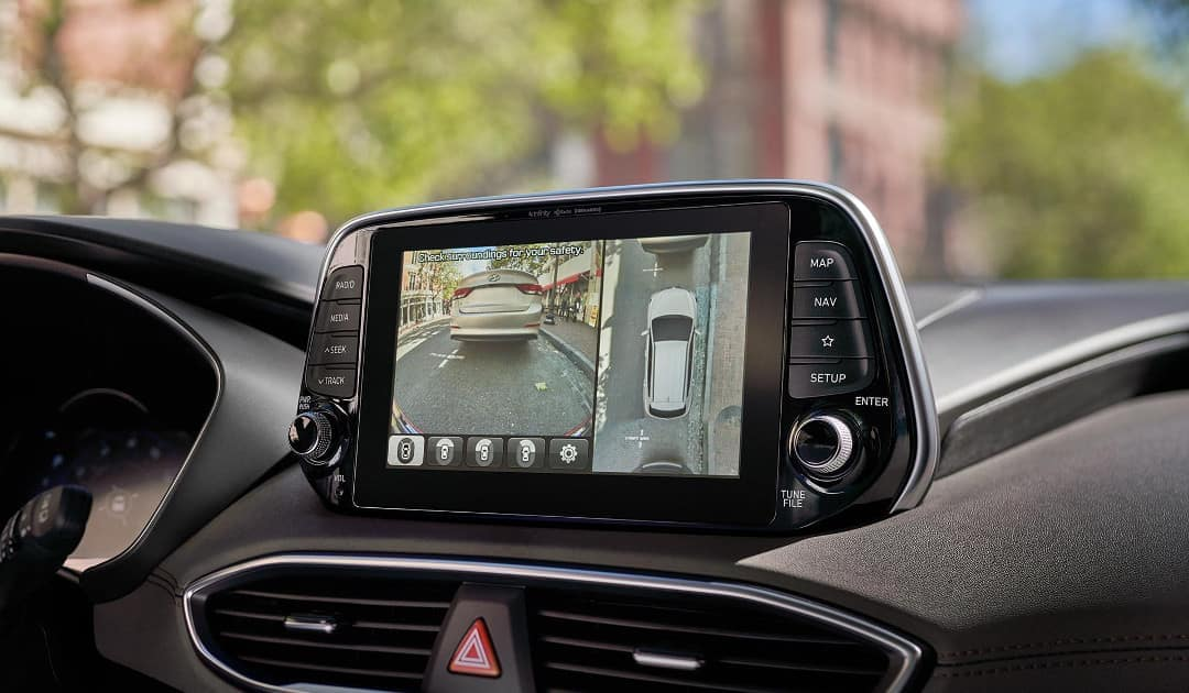 2019 Hyundai Santa Fe surround view monitor