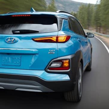 2019 Hyundai Kona blue rear