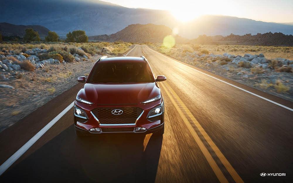 2019 Hyundai Kona red front