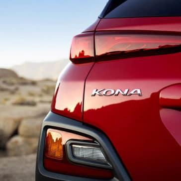 2019 Hyundai Kona red rear