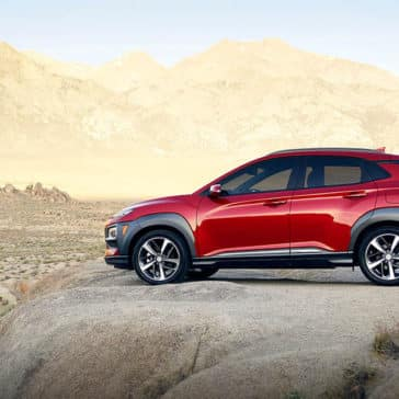 2019 Hyundai Kona side red
