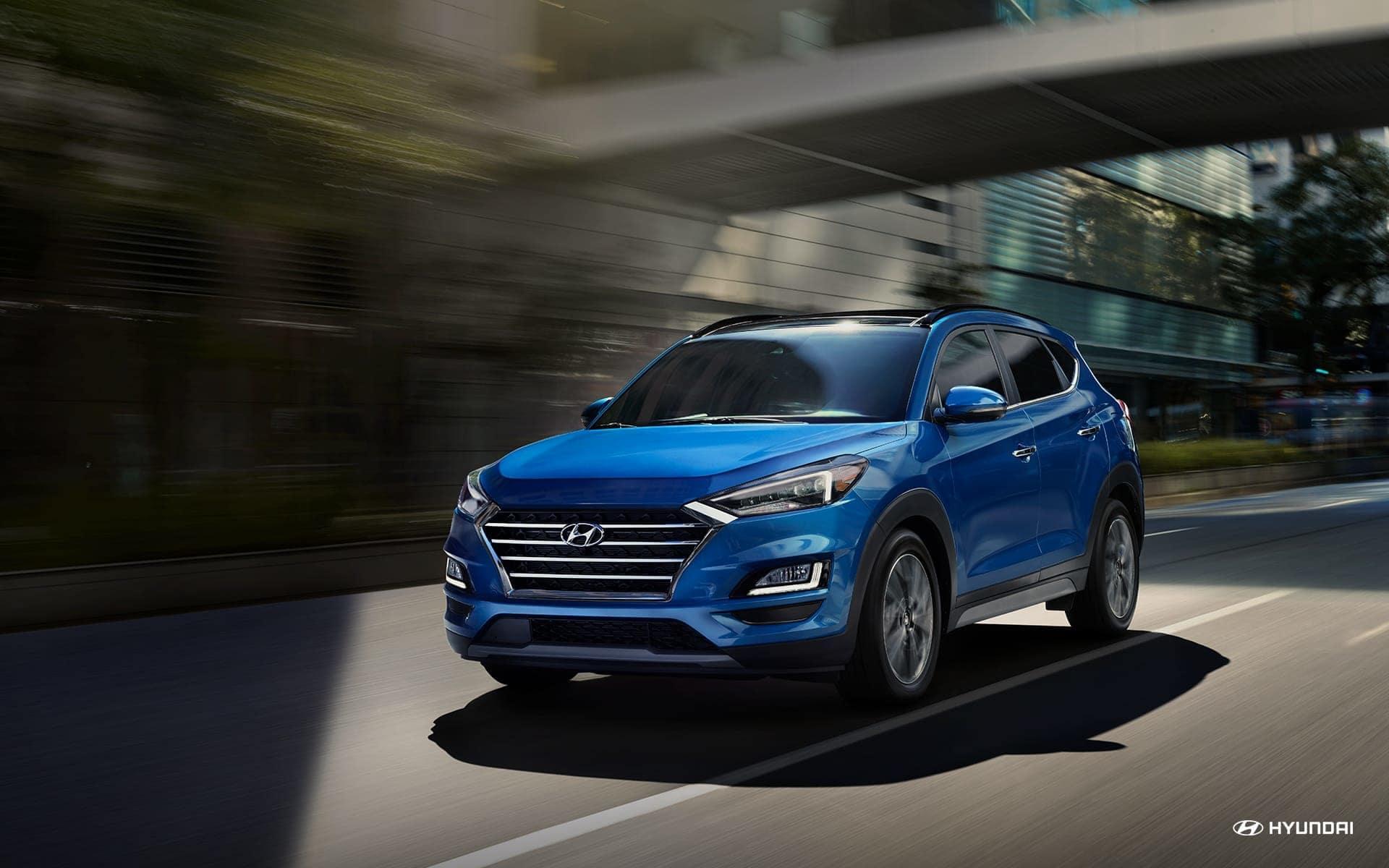 2019 Hyundai Tucson driving down road