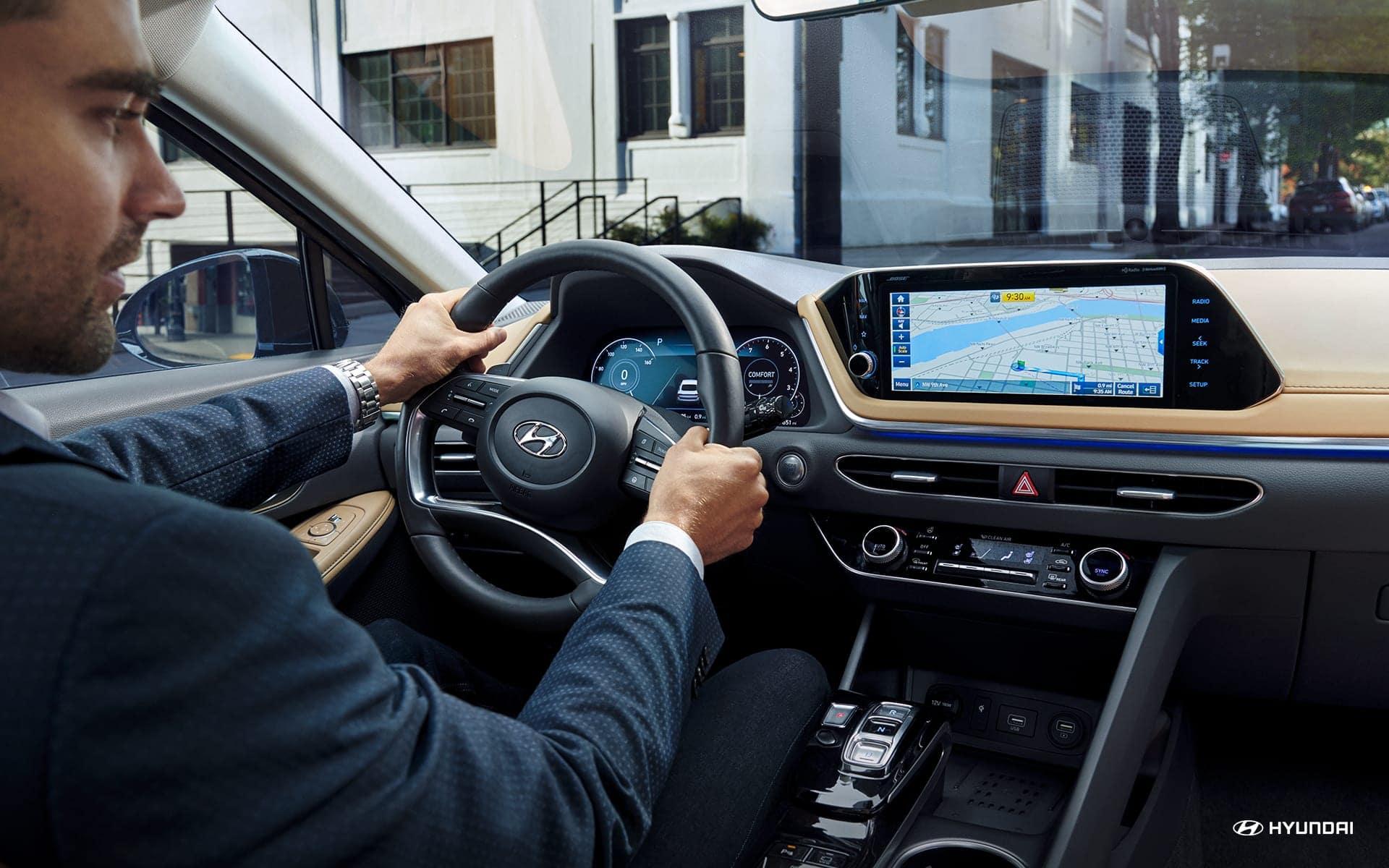 Man driving 2020 Hyundai Sonata