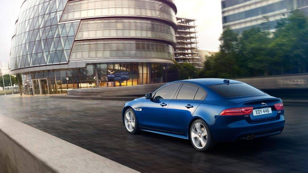 2018 Jaguar XE driving outside