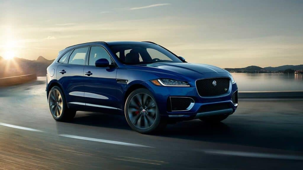 Blue 2018 Jaguar F-PACE