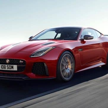 2019 Jaguar F-TYPE svr in caldera red driving