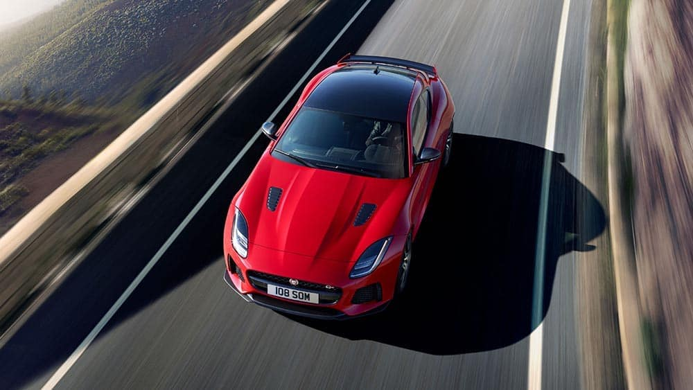2019 Jaguar F-TYPE svr in caldera red with optional features fitted