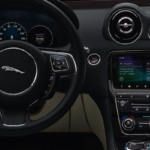 2019 Jaguar XJ interior dash and steering wheel