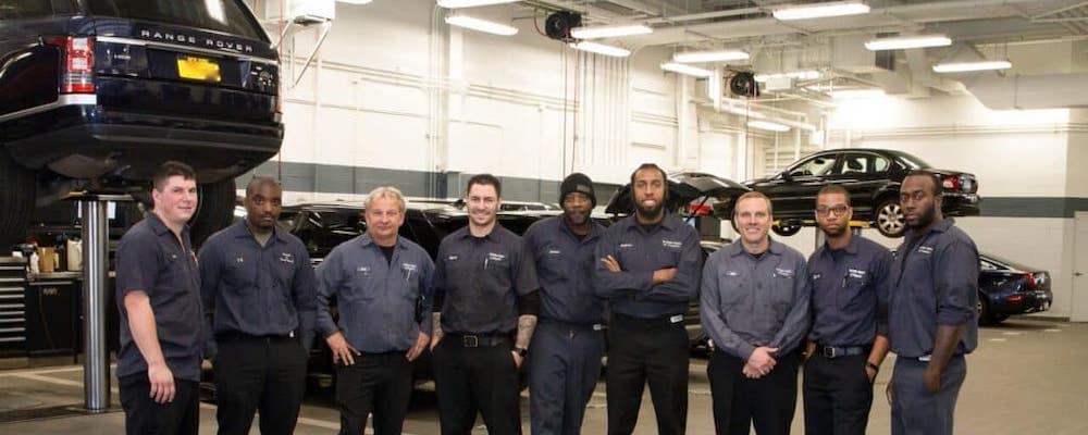 Jaguar service technicians