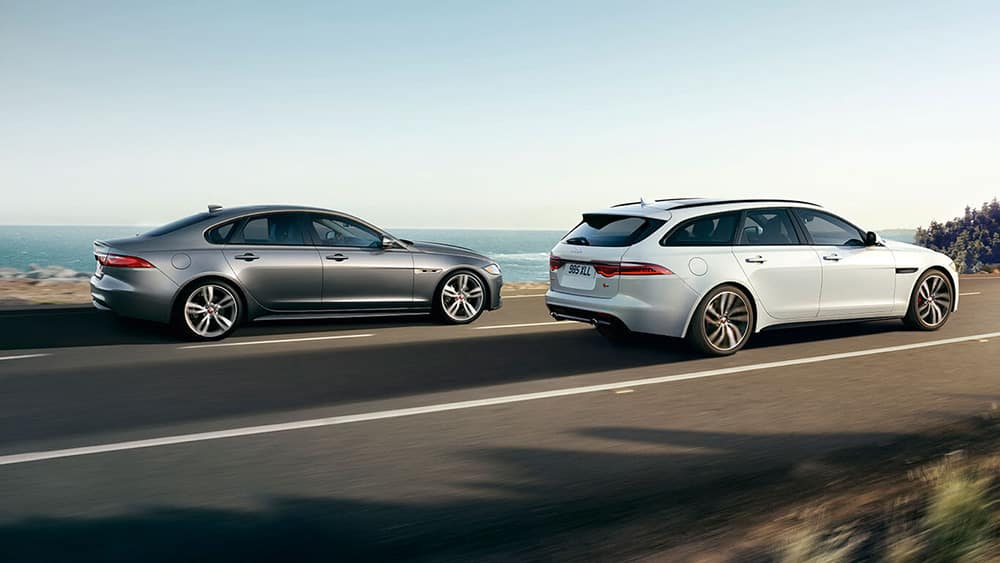 2019-jaguar-xf-sportbrake-and-jaguar-xf-sedan-side-view