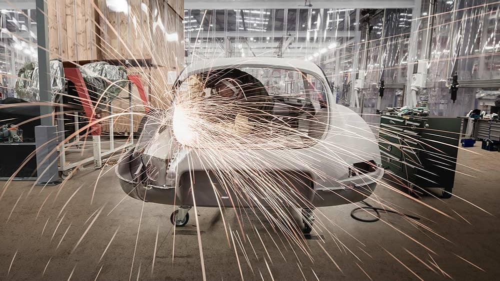 Classic Jaguar E-Type Reborn restoration work