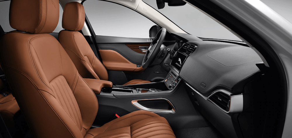 jaguar f-pace interior front seat and passenger