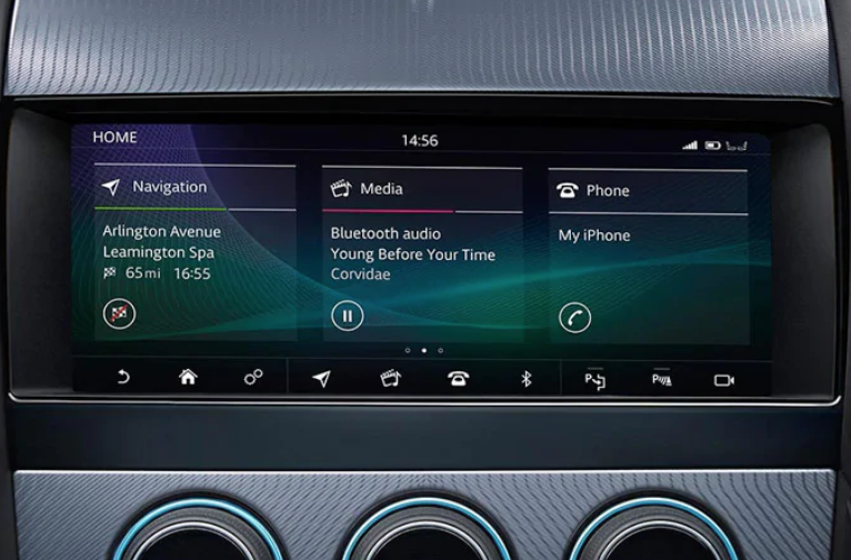 2020 Jaguar F-TYPE interior tech