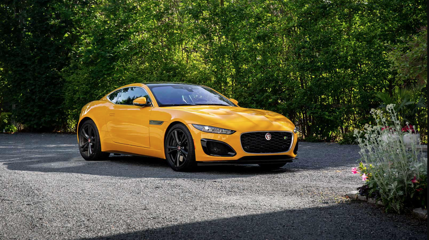 The 2021 Jaguar F-Type parked by grennery.