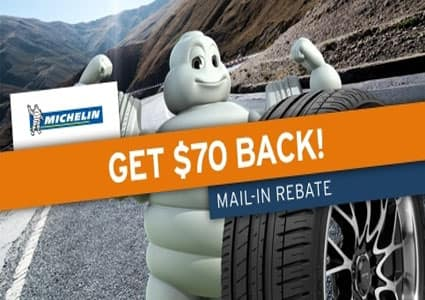 Get $70 Back on Michelin Tires