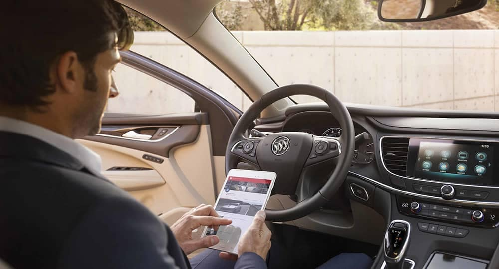 2018 Buick LaCrosse Driver On Tablet
