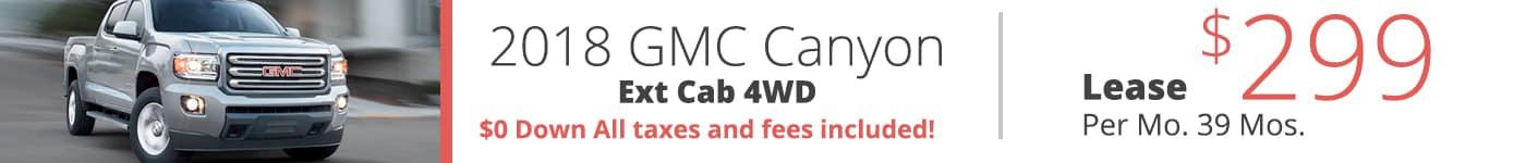 2018 GMC Canyon Ext Cab 4WD