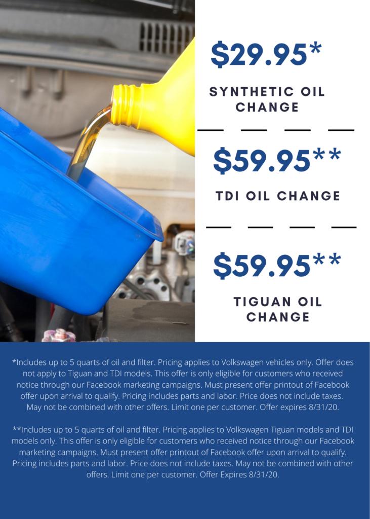 Kuhn VW oil change coupons