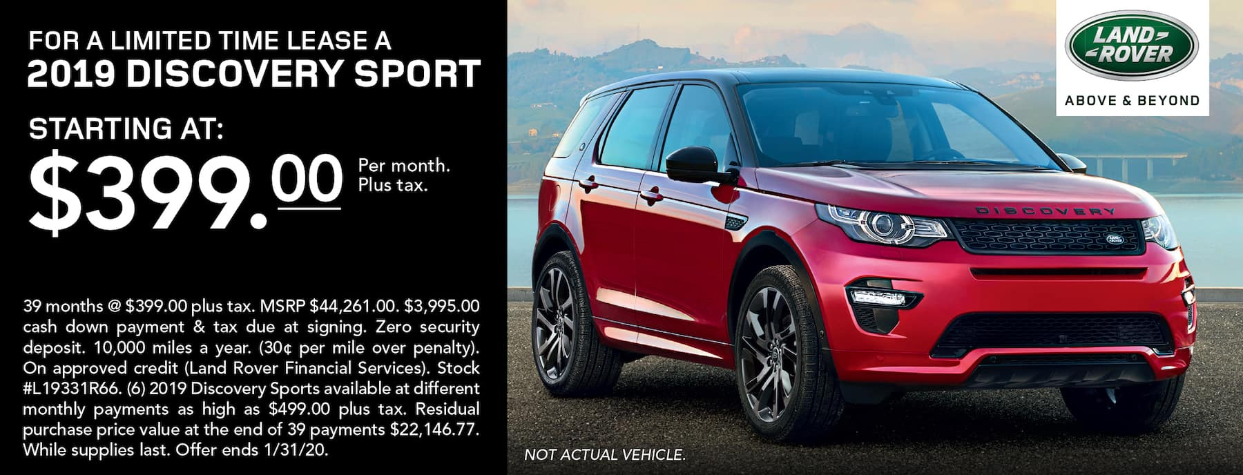Discovery Sport Specials